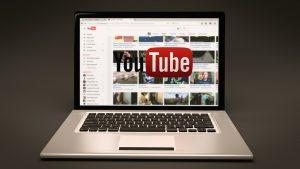 A youtube logo on laptop