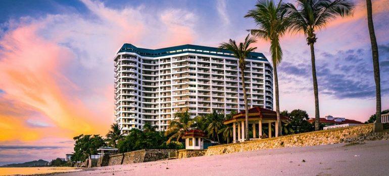 A beach hotel