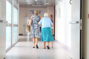 Two women in a doctor's office.