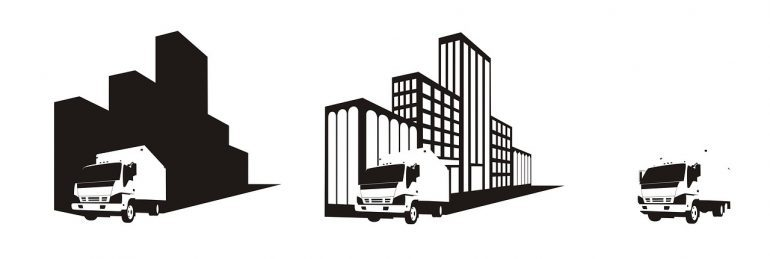 -illustration of a moving company