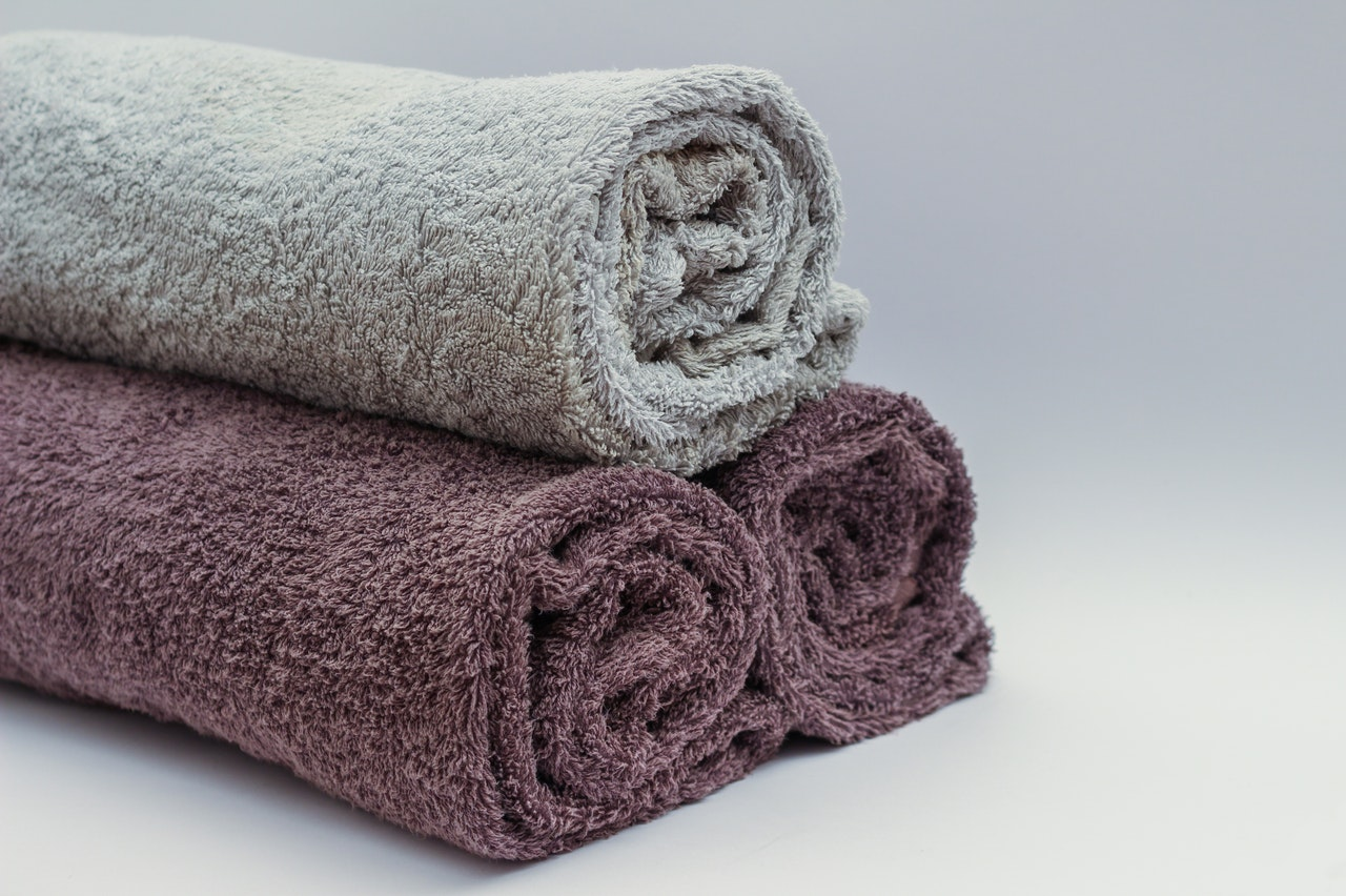 Three towels - towels are one of the things you should unpack first after moving