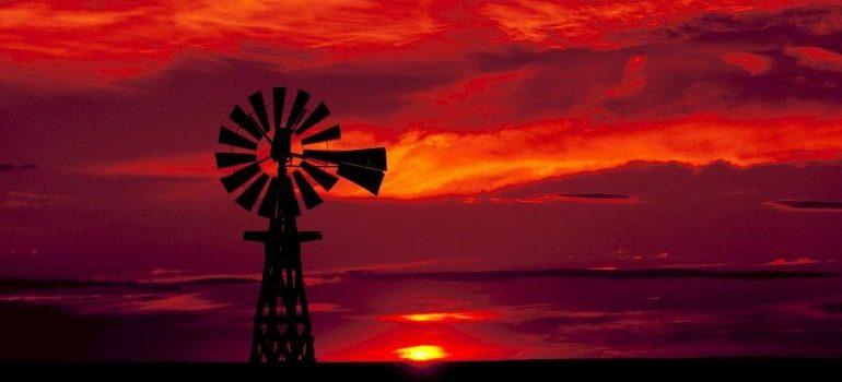 A windmill in Texas