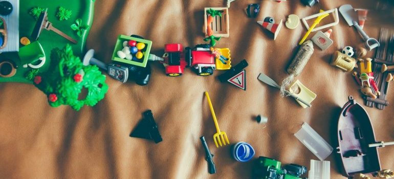 Children's toys - a part of decluttering your child's bedroom is sorting out the toys
