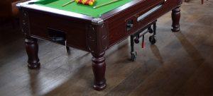 a pool table legs