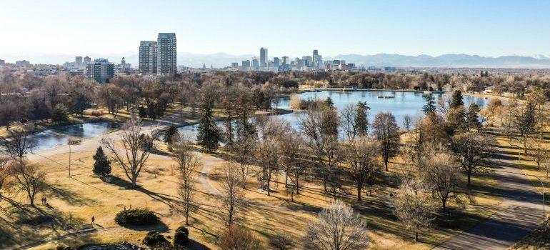 a park in Denver, CO