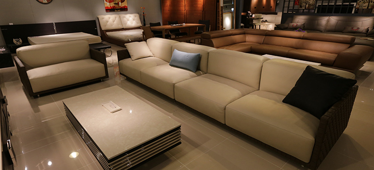 furniture waiting to be moved by furniture movers Denver
