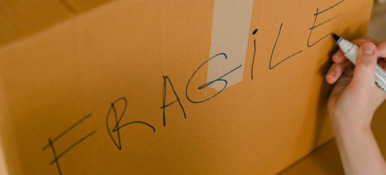 cardboard box - fragile