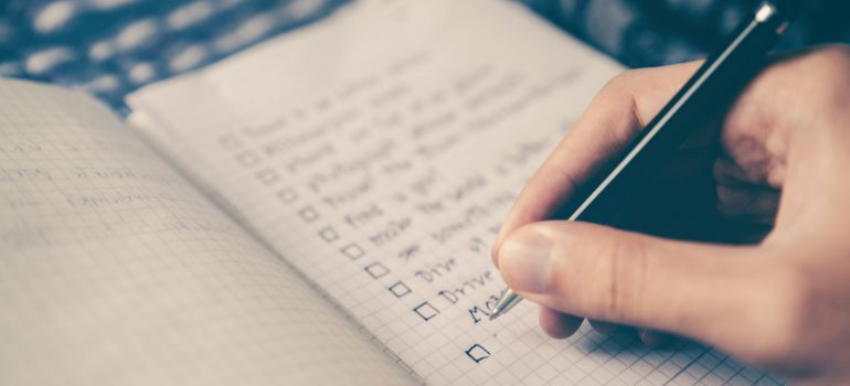 make a list for organizing your garage