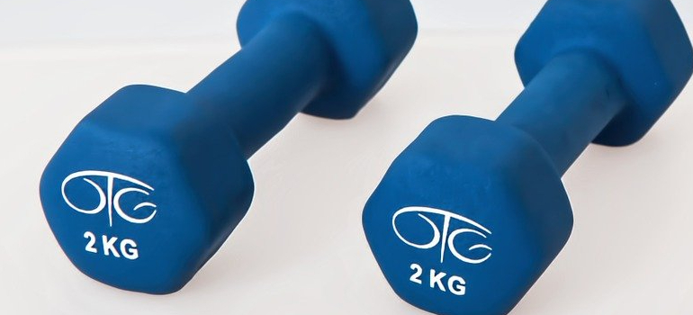 weights on the floor
