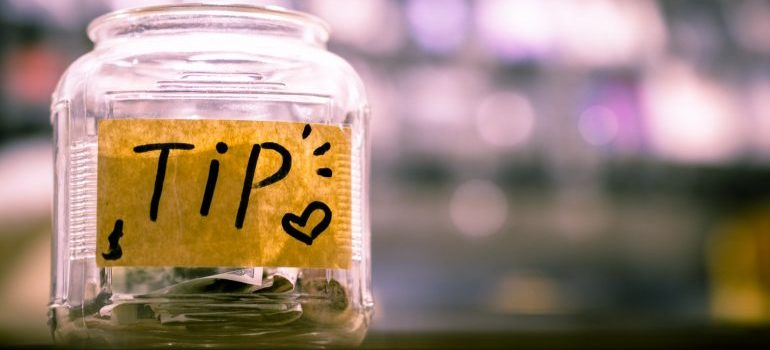 A jar for tips