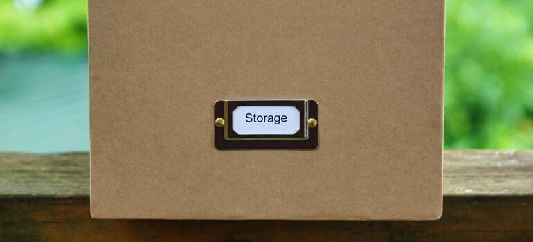 box that says storage