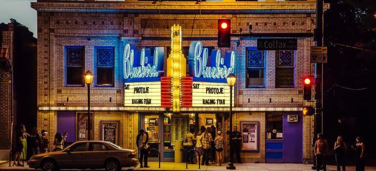 cinema during the night