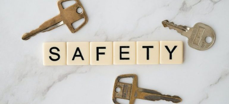 safety in letters and three keys