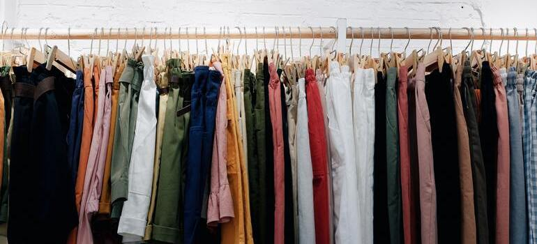 donate unwanted items after relocation in CO that are hanging on the rack