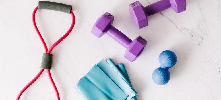 storing fitness equipment