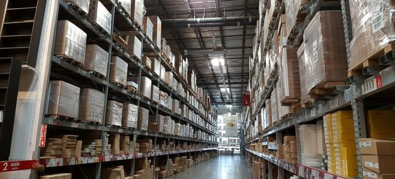 inside of a spacious and well-organized storage