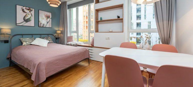 A cozy studio apartment