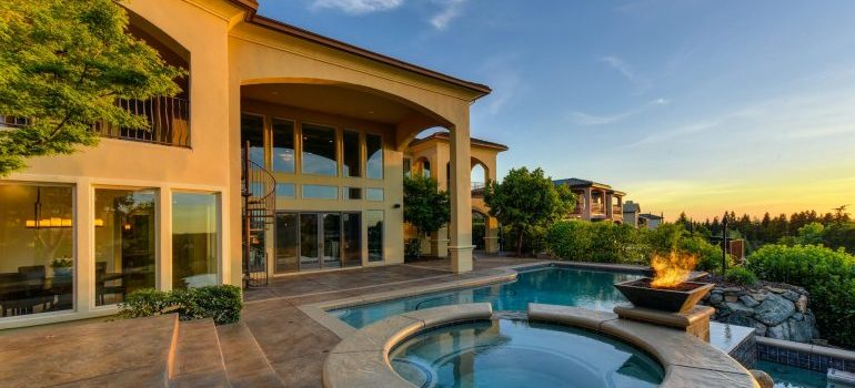 summer home with a pool