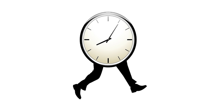 a clock with legs