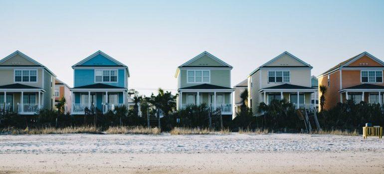 Several beach houses