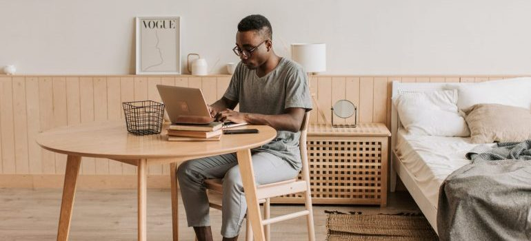 men and laptop