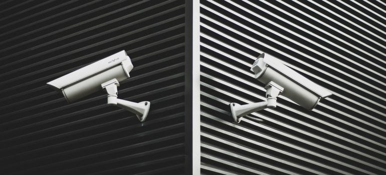 security cameras monitoring a good storage unit