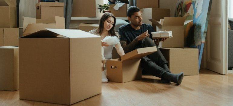 Couple preparing for relocation