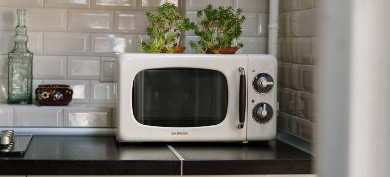 Microwave in the kitchen