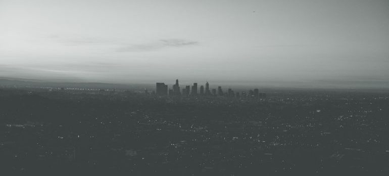 a fog over los angeles