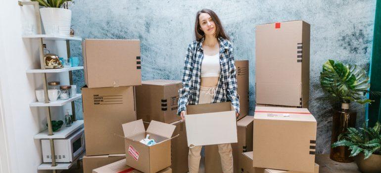 Girl doing unpacking